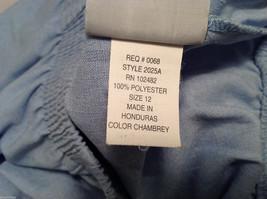 LT by Liz Thomas Light Blue 100% Polyester Elastic Waist Pants, size 12 image 9