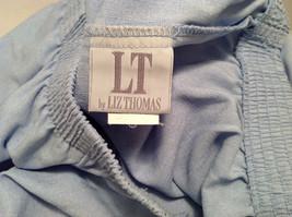 LT by Liz Thomas Light Blue 100% Polyester Elastic Waist Pants, size 12 image 8