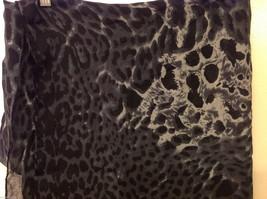 Rectangle Jaguar or Cheetah Print 100% Polyester Gray Black Scarf Wrap - NEW image 7