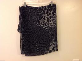 Rectangle Jaguar or Cheetah Print 100% Polyester Gray Black Scarf Wrap - NEW image 6