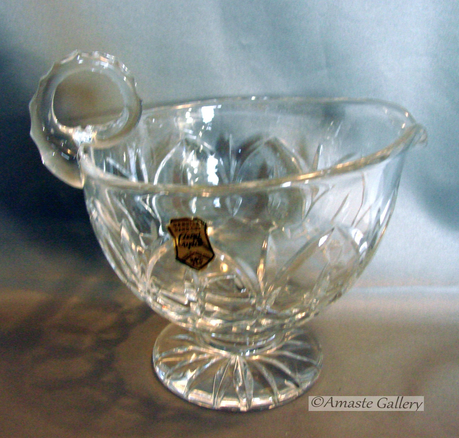 Pottery & Glass Honesty Crystal Bowl 24% Cut Lead Hand Cut Crystal