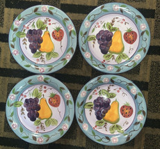 Handpainted Gibson Elite Dinner Plates Set Of 4 - $24.74