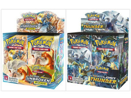 Pokemon TCG Sun & Moon Unbroken Bonds + Lost Thunder Booster Box Bundle - $214.95