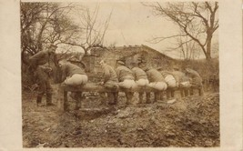 XRARE World War 1 real photo post card: Group of soldiers using latrine ... - $391.05