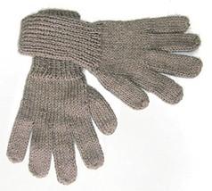 Alpakaandmore Women Hand-knitted Gloves Alpaca Wool (Large, Light Brown) - $22.77