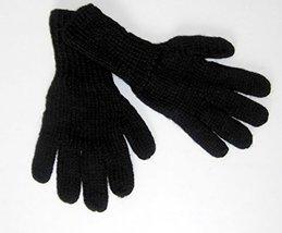 Alpakaandmore Women Hand-knitted Gloves Alpaca Wool (Small, Black) [Appa... - $22.77