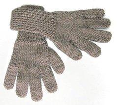Alpakaandmore Women Hand-knitted Gloves Alpaca Wool (Medium, Light Brown) - $22.77