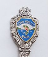 Collector Souvenir Spoon USA Washington Sedro-Woolley Fish Emblem - $4.99