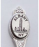 Collector Souvenir Spoon USA New York Albany Skyline Emblem - $4.99