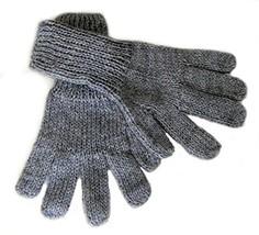 Alpakaandmore Women Hand-knitted Gloves Alpaca Wool (Medium, Grey) [Appa... - $22.77