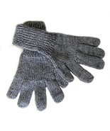 Alpakaandmore Women Hand-knitted Gloves Alpaca Wool (Medium, Grey) [Appa... - $22.77