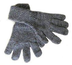 Alpakaandmore Women Hand-knitted Gloves Alpaca Wool (Large, Grey) [Apparel] - $22.77