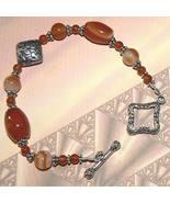 """.925 Sterling Silver Carnelian Bracelet Handmade OOAK 8"""" - $30.00"""