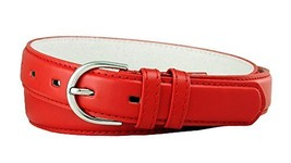 Solid Color Dress Leather Adjustable Skinny Belt for Women (Red, XX-Large) - $5.93