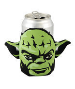 Star Wars Collectible Character Jedi Master Yoda Foam Soda Can Drink Cooler - £7.51 GBP