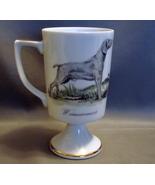 Porcelain Weimaraner  Pedestal Footed Mug w/ Gold Trim - $5.99