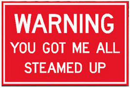 Warning You Got Me All Steamed Up Sign Railroad Aluminum Signs - $22.18