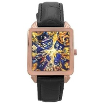 Ladies Rose Gold Leather Watch Van Gogh Style Tardis Gift model 37761285 - $19.99