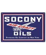 Reproduction Socony Aircraft Oils Standard Service Sign Garage Art - $25.74