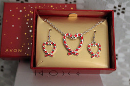 Candy Cane Confection Collection Necklace and Earring Gift Set - $12.96