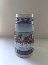 1995 Budweiser Lighting the Way Home Christmas Beer Stein VTG - $6.92