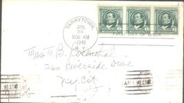 Washington Irving Famous American first day cover January 29, 1940, Tarr... - $1.99