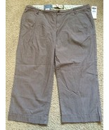 Ladies Old Navy Capri Pants Size 4 Brown Stripe Lowest Rise Pleated 4 po... - $24.44