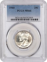 1944 25c PCGS MS66 - Washington Quarter - $63.05