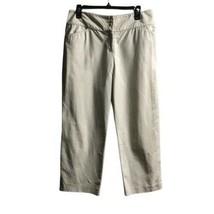 Ann Taylor Women's Capri Pants White Cotton Stretch Sz 10 - $20.78