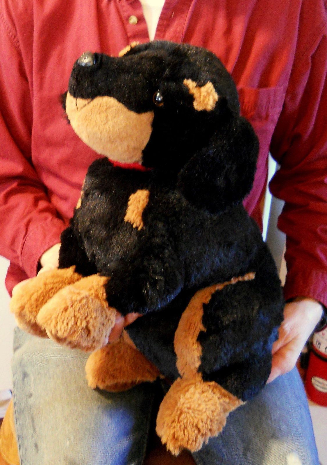 Large Rottweiler or Floppy Earred Doberman Stuffed Animal Plush Toy 19