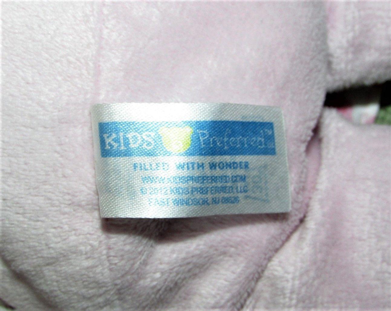 "Kids Preferred Plush BABY DOLL Pink 12"" Blue Eyes Satiny Flower Dress Hat 2012 image 3"