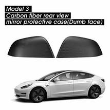 TOPlight Tesla Model 3 Real Carbon Fiber Side Mirror Covers Cap Exterior Decorat