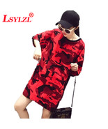 """2019 New Summer Women""""s Short sleeved Dresses Casual Loose Large Size 5X... - $26.70"""