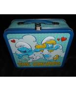 Die Schlümpfe 2011 Metall Vesperbox Peyo Blau Lunchbox W / Schlumpfine E... - $13.33