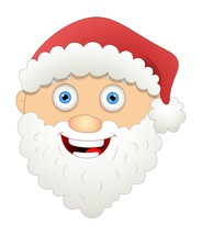 4 Santa Face-Digital Clipart-Christmas-Card-Tag - $4.00