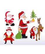 Christmas Santa Vector-Digital Clipart-Christmas-Card-Tag - $4.00