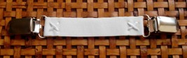 """White Stretch DRESS CINCH CLIP 3/4"""" wide w/ Safety Insert in clips and P... - $5.89"""