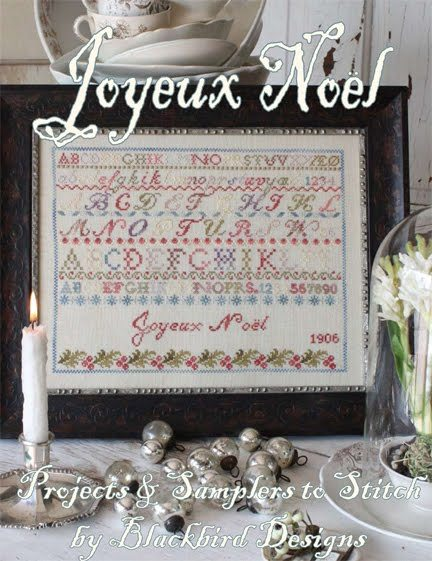 Joyeux noel reprint christmas booklet cross stitch chart for Christmas garden blackbird designs
