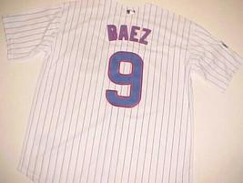 Chicago Cubs Javier Baez #9 MLB NL 2016 World Series Champions White Jersey XL - $89.09