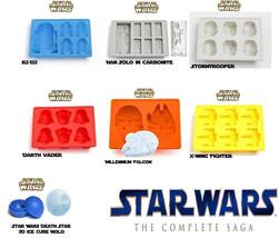 7 x Star Wars Molds Edible Star Wars Darth Vader R2D2  Baking jello choc... - ₨1,615.42 INR
