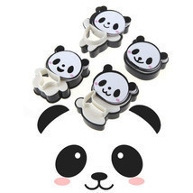 4x Panda Cookie Cutters Bear Cookie Cutters Biscuit Mold Fondant Cake To... - $74,91 MXN