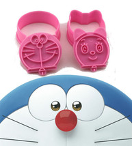 2x Doraemon and Dorami Cutters Plunger Biscuit Mold Fondant Cake Topper ... - $129,29 MXN