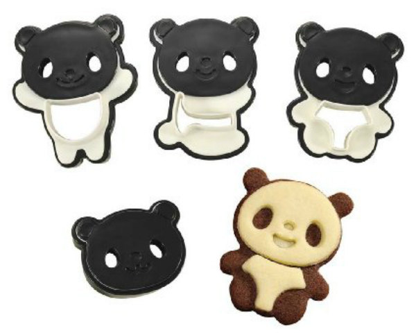 4x Panda Cookie Cutters Bear Cookie Cutters Biscuit Mold Fondant Cake Topper pan