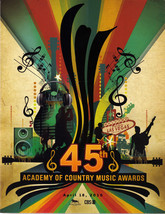 The 45th Academy of Country Music Awards Apirl 18th 2010 Program - $14.95