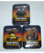 THREE  SETS  Angry Birds Star Wars Collectible Playing Cards In Tin NEW  - $6.50