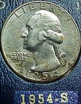 Washington Quarter 1954-S VF - $9.04