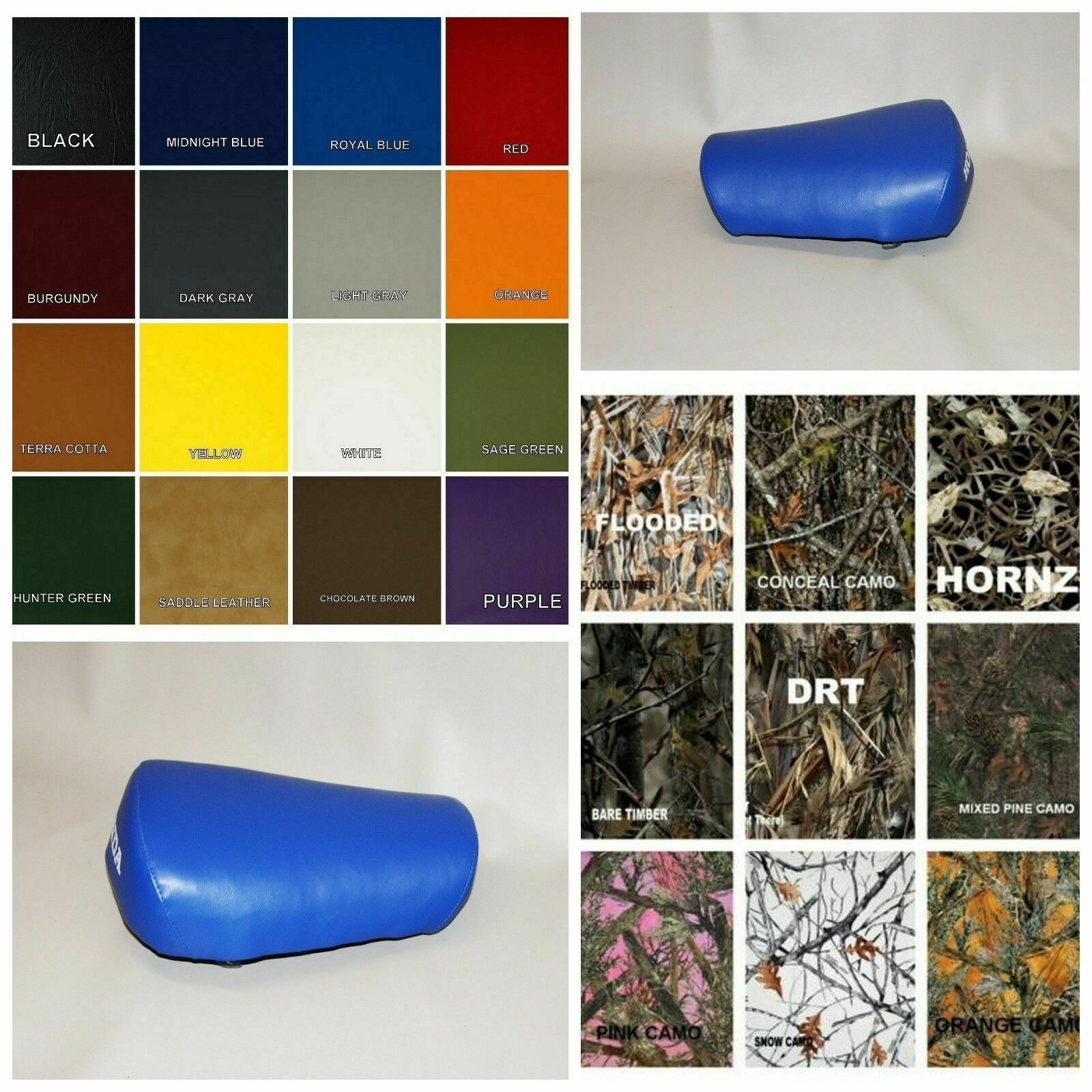 Primary image for HONDA Z50R Seat Cover 1984 1985 1986 1987  ROYAL BLUE or 25 COLORS (ST/BW)