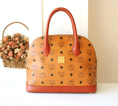 MCM bag Visetos Monogram Cognac Vintage Tote Handbag Germany - $375.00