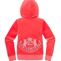 Juicy Couture Girls Geranium Velour Embelished Scotty Hoodie sz.S 4/5 NW... - $50.00