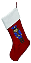 POLICE OFFICER NUTCRACKER PERSONALIZED CHRISTMAS STOCKING - $37.99